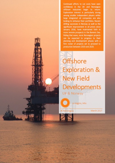 New Offshore Field Exploration And Developents in the UK and Norway_March 2017